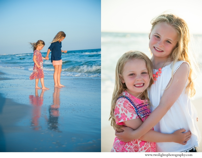 30a Beach Photographer, Two Lights Photographer, coral and navy beach portraits