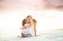 Mother and Daughter Beach Portrait | Two Lights Photography