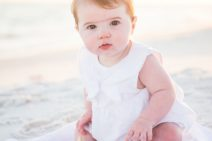 30A Beach Portrait of chubby baby and her family | Two Lights Photography